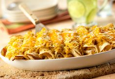 Cheesy Chicken Enchiladas Verde #bridalshower #polkadotdesign