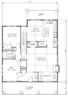 Bungalow Style House Plan - 4 Beds 2 Baths 2094 Sq/Ft Plan #423-23 Floor Plan - Main Floor Plan - Houseplans.com
