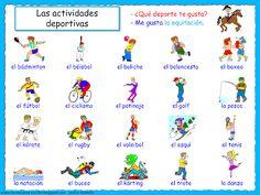 Bilderesultat for los deportes en espanol Funny Spanish Memes, Spanish Humor, Spanish Vocabulary, Teaching Spanish, Special Education Law, World Language Classroom, Interesting English Words, Sports Games For Kids, First Grade Science