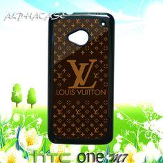 HTC ONE Louis Vuitton Texture HTC One M7 Hard Case Cover FANTASTIC !!!