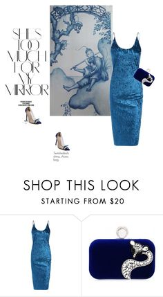 """""""Luli"""" by stellina-from-the-italian-glam ❤ liked on Polyvore featuring Rika, dress and velvet"""