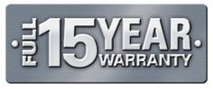 15-year-warranty PLUS a 10 year insurance backed warranty, only from NEVER PAINT AGAIN UK