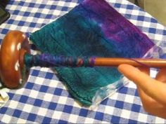 ▶ How to Draft Silk Hankies (Mawata) for Knitting or Spinning - YouTube