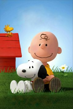 Charlie Brown, Snoopy and Woodstock