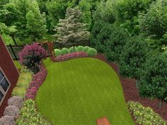 Outdoor Large Backyard Landscaping Designs Come With Many Green Plant And Simple Backyard Landscaping
