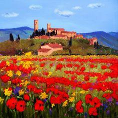 Villagio Toscano I [Bruno Tinucci-A067] - $500.00 painting by oilpaintingsartmaker.com