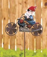 Outdoor Decor   LTD Commodities Funny Garden Gnomes, Gnome Garden, Garden Stakes, Harley Davidson, Biker Gnomes, Garden Wind Spinners, Gnome House, Lakeside Collection, Outdoor Sculpture