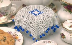 Ravelry: Square Jug/Bowl Cover Pattern pattern by Megan Mills Crochet Kitchen, Crochet Home, Free Crochet, Knit Crochet, Beaded Crochet, Chrochet, Doily Patterns, Knitting Patterns, Crochet Patterns