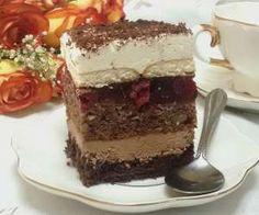 Ciasto orzechowo-wisniowa pychotka Polish Desserts, Tiramisu, Ale, Cake Recipes, Cheesecake, Good Food, Food And Drink, Cooking Recipes, Tasty