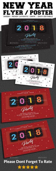 #New Year #Party #Flyer - Events Flyers