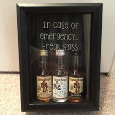 Shadow Box: In case of emergency break glass.