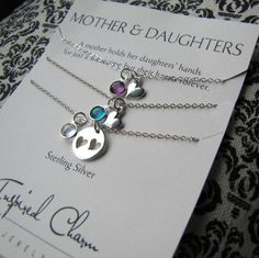 Mother Daughter Jewelry Set  Sterling by InspiredCharmJewelry