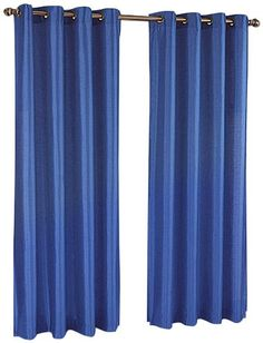 Amazon.com - Stylemaster Tribeca 56 by 84-Inch Faux Silk Grommet Panel, Cobalt - Window Treatment Panels