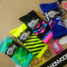 Four new flavours of #sockdoping in today.  #cycling #brightenyourride