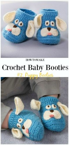 Crochet Puppy Booties Free Pattern - Baby #Booties; Free #Crochet; Patterns