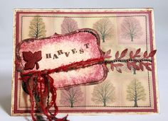 Harvest Greetings  -  Handmade Thanksgiving Card, Handmade Fall Card