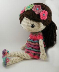 Claudia Amigurumi Doll Crochet Pattern PDF by CarmenRent on Etsy ♡