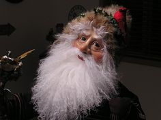 Northwest  Santa, close up by Valerie West Sculptural Art Doll ~  x