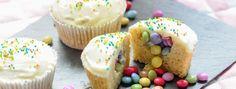 Überraschungs Cupcakes mit Smarties