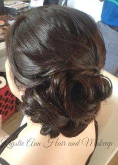 Hair: www.krystieann.com  Bridal hair, wedding hair, updo, wedding updo, wedding hair styles, elegant hair, brunette updo, punta cana wedding, huracan cafe, huracan punta cana, huracan weddings