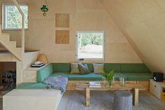 Fin grön, stor soffa