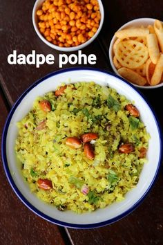 dadpe pohe recipe, dadpe poha, maharashtrian dadpe pohe with step by step photo/video. tasty poha or flattened rice, made for morning breakfast or as snack. Vegetarian Breakfast Recipes, Snack Recipes, Cooking Recipes, Healthy Recipes, Vegetarian Food, Snacks, Paneer Tikka Masala Recipe, Poha Recipe, Maharashtrian Recipes