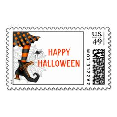 Halloween Witch Postage Stamp. Wanna make each letter a special delivery? Try to customize this great stamp template and put a personal touch on the envelope. Just click the image to get started!