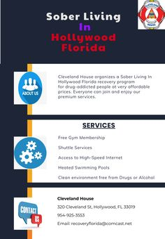 Cleveland House offers a premium service to its customers like open drug-free environment, shuttle services, high-speed internet, etc at Sober Living In Hollywood Florida recovery program. Feel free to call us Cleveland House 320 Cleveland St, Hollywood, FL 33019 954-925-3553