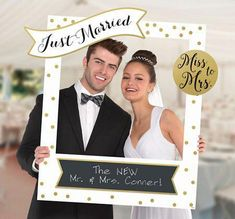 This Giant Customizable Wedding Photo Frame Kit includes 14 cutouts to add fun sayings to the frame. Capture memories at your wedding party, engagement party, or bridal shower with this frame! Wedding Photography Checklist, Wedding Photography Poses, Photography Tips, Digital Photography, Photography Studios, Photography Marketing, Photography Equipment, Wedding Photo Booth Props, Photo Frame Prop