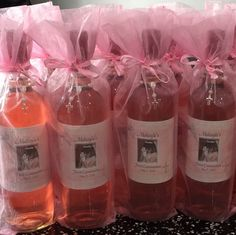 Congratulations to Makayla on her Communion! Your wine favors are adorable with the matching tulle!
