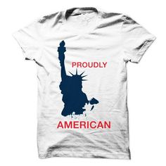 PROUDLY AMERICAN - #gift wrapping #gift for mom. LOWEST SHIPPING => https://www.sunfrog.com/Holidays/PROUDLY-AMERICAN-59186657-Guys.html?68278