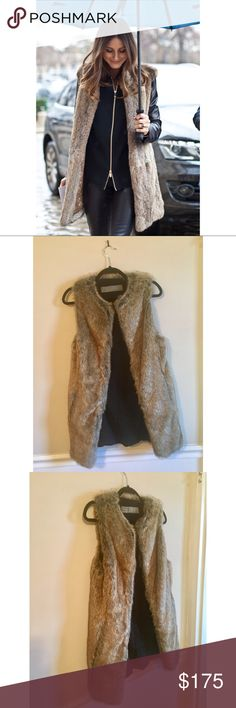 Zara Brown Faux Fur Vest Sz Medium This Zara Faux-fur vests is a fall and winter-wardrobe mainstay! This trend shows no sign of abating. Whether you layer it over a flowing blouse and skinny jeans, pair it with your winter coat for a posh, furry accent, or with a dress for over the top glamour, the result is an amazing fashion moment!  Excellent Condition!! Additional pics included for inspiration Zara Jackets & Coats Vests