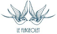 Illustration exclusive pour le Flageolet - Hirondelles - tatouages.
