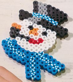 Adorable fusible beads snowman! #simplycreativechristmas