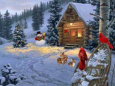 paysage d;hiver a noel | paysage dhiver à Noël