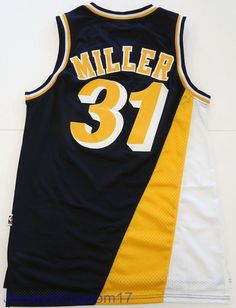 Throwback Basketball Jersey REGGIE MILLER 31 Indiana Pacers Navy Blue Men  Sz S 31605db44