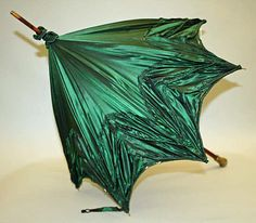 "Parasol: ca. 1900, French, silk, wood, metal, glass. Marking: [stamped] ""Betaille, 20 R. Royale"""