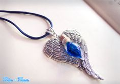 Angel Tears - Potion Necklace, angel wings, angel tears, heart, swallow, LARP, mana, world of warcraft, princess, Christmas, love