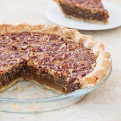 Old-Fashioned Pecan Pie--A pecan pie without corn syrup. We certainly don't miss it.