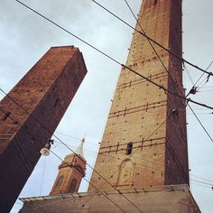 The Kissing Towers of Bologna. Cute! - Instagram by @anja_beckmann