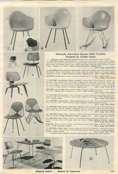 The prices of Eames designs in 1956!