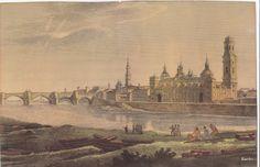 De Zaragoza al ZierZo Ebro, Painting, 19th Century, Zaragoza, Painting Art, Paintings, Painted Canvas, Drawings