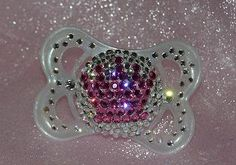 Baby Bling Pacifiers/Crown - great for new baby girl