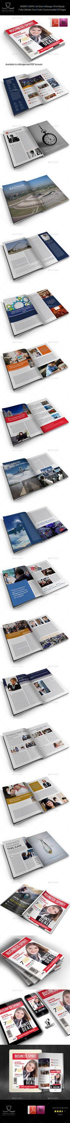 Business Newsletter Din A  Newsletter Templates Print Templates