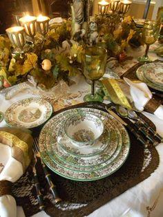 Nancys Daily Dish: Spode Byron Tablescape ~ My Favorite Transferware