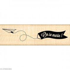 Tampon mariage - La bague au doigt - Bannière des mariés - 3 x 10 cm