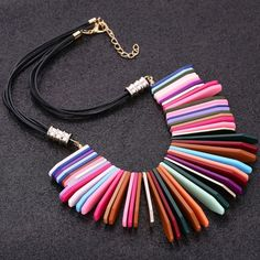 Coming Soon!! Multicolor Bib Statement Necklace