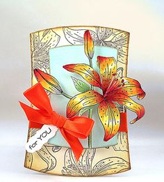 Penny Black 40-199 Tiger Lily card by Jill Foster