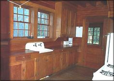 THIS IS IT!! The cabinets are what I want... mid 1930's kitchen - Clackamas Lake Ranger Residence kitchen, Mount Hood National Forest, Oregon