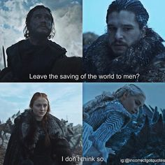 Jon, Sansa and Dany